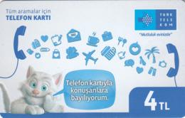 TURKEY - Mutluluk Evinizde ,Aralık 2016, Incard - IN4 ,4₤ Turkish Lira ,05/14 , Used - Türkei