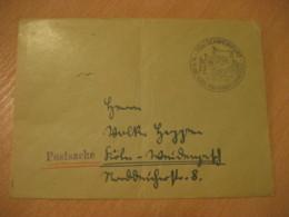 SCHWEINFURT 1953 Bundes Sportfest Flag Flags Cancel Cover GERMANY - Covers