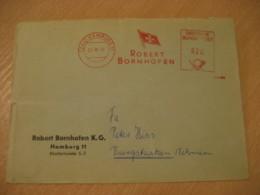 HAMBURG 1958 Robert Bornhofen Flag Flags Meter Mail Cancel Cover GERMANY - Briefe