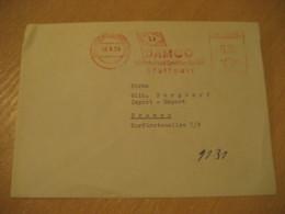STUTTGART 1959 DAMCO Schiffahrt Und Spedition Flag Flags Meter Mail Cancel Cover GERMANY - Briefe