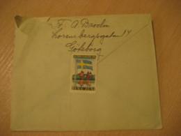 GOTEBORG 1937 Poster Stamp Label Vignette Flag Flags On Cancel Cover SWEDEN - Covers