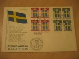 STOCKHOLM 1955 Svenska Flaggans Dag FDC Cancel Cover SWEDEN - Covers