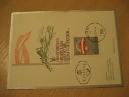 WIEN 1969 Heimat Flag Flags Maxi Maximum Card AUSTRIA - Briefe