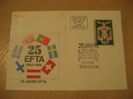WIEN 1985 EFTA Flag Flags FDC Cancel Cover AUSTRIA - Covers