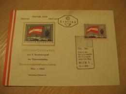 WIEN 1963 Europa Eurpeism Flag Flags FDC Cancel Cover AUSTRIA - Covers