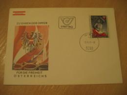 WIEN 1977 Fur Die Freiheit Flag Flags FDC Cancel Cover AUSTRIA - Covers