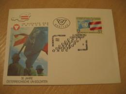 WIEN 1990 UN Soldaten Flag Flags FDC Cancel Cover AUSTRIA - Covers