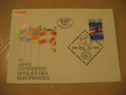 GRAZ 1986 Europa Europeism Flag Flags FDC Cancel Cover AUSTRIA - Covers