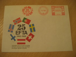 GENEVE 1985 EFTA Flag Flags Meter Mail Cancel Cover SWITZERLAND - Briefe