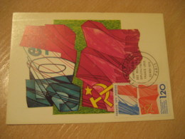 PARIS 1975 Relations Diplomatiques USSR Russia Flag Flags Maxi Maximum Card FRANCE - Covers