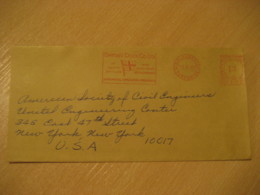 MIDDLESBROUGH Yorkshire 1965 Smith Dock North Shields South Bank Flag Flags Meter Mail Cancel Cover ENGLAND - Briefe