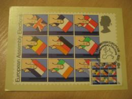 LONDON 1979 First British European Parliamentary Elections Flag Flags Maxi Maximum Card ENGLAND - Briefe