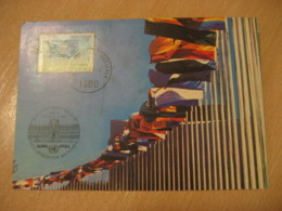 WIEN 1981 WIPA Flag Flags Maxi Maximum Card Austria UNITED NATIONS - Covers