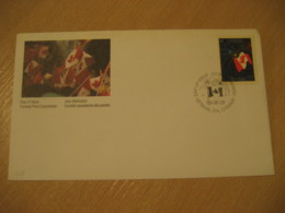 OTTAWA 1990 Canadian Flag Flags FDC Cancel Cover CANADA - Briefe