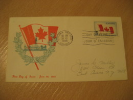 OTTAWA 1965 Flag Flags FDC Cancel Cover CANADA - Briefe