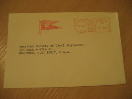 MONTREAL 1968 J Flag Flags Meter Mail Cancel Cover CANADA - Briefe