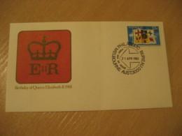 MELBOURNE 1981 Birthday Of Queen Elizabeth II QEII Royalty Flag Flags FDC Cancel Cover AUSTRALIA - Briefe