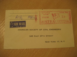 SYDNEY 1965 Flag Flags Postage Paid Air Mail Cancel Cover AUSTRALIA - Briefe
