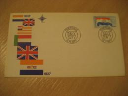 PRETORIA 1927 1977 Flag Flags FDC Cancel Cover RSA South Africa - Briefe
