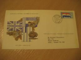 PRETORIA 1927 1977 To Black Diamond Canada Flag Flags FDC Cancel Cover RSA South Africa - Covers