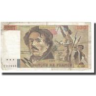 France, 100 Francs, Delacroix, 1985, P. A.Strohl-G.Bouchet-J.J.Tronche, 1985 - 1962-1997 ''Francs''