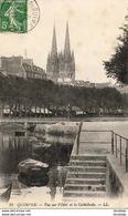 D29  QUIMPER  Vue Sur L' Odet Et La Cathédrale  ..... - Quimper