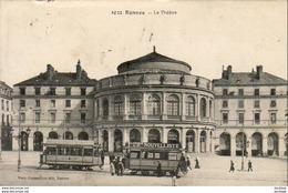 D35  RENNES  Le Théâtre  ..... Tramway Avec Pub Nouvelliste ) - Rennes