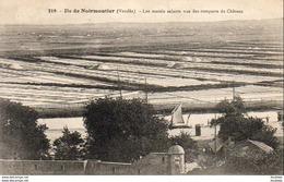 D85  Ile De Noirmoutier - Les Marais Salants Vus Du Rempart Du Château    ............. .  ( REP 1831) - Ile De Noirmoutier