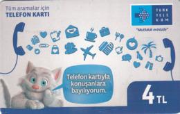 TURKEY - Mutluluk Evinizde ,Kasim 2016, Chip 5 ,4₤ Turkish Lira ,04/14 , Used - Turkey