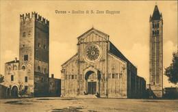 Verona Italia Basilica Di S. Zeno Maggiore/Strassen Partie Mit Basilika,  1910 - Italie