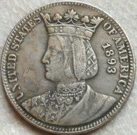 RÉPLICA Moneda Reina Isabel La Católica. Exposición Colombina. 25 Céntimos. 1893. Estados Unidos De América - 1892-1916: Barber