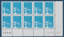 """FR Coins Datés YT 3453 Bloc De 10 """" Luquet 0.67€ Bleu """" Neuf** Du 16.07.01 - 2000-2009"""