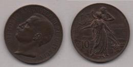 "REGNO - 1911 V.  EMANUELE III - 10 Centesimi ""Cinquantenario"" 1911 Bella Moneta In Condizioni Q/Spl - 1861-1946 : Royaume"