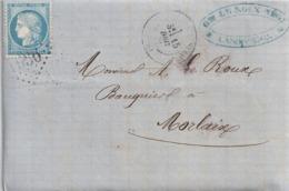 France Lettre Cérès GC 1936 Landivisiau Finistère - Postmark Collection (Covers)