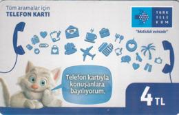 TURKEY - Mutluluk Evinizde ,Mart 2017, Chip 5 ,4₤ Turkish Lira ,08/14 , Used - Turquie