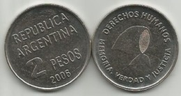 Argentina 2 Pesos 2006. Human Rights ,high Grade - Argentinië