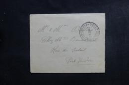 """FRANCE - Cachet Du Croiseur Cuirassé """" Edgard Quinet """" Sur Enveloppe En 1917 Pour Port Vendres - L 46335 - Seepost"""