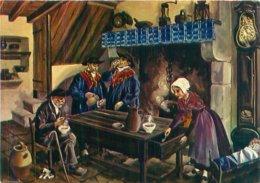 Carte  Folklore Signée  Homwalk  -      Interieur Limagnier , Environs De Clermon Ferrand      AA531 - Auvergne Types D'Auvergne