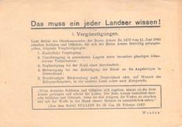 """WWII WW2 Flugblatt Tract Leaflet Листовка Soviet Propaganda Against Germany """"Das Muss Ein Jeder Landser Wissen!"""" - 1939-45"""