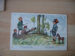 Poulbot  Illustrateur  Carte Patriotique Enfant Halte La Qui Vive General Joffre Guerre 124.18 - Poulbot, F.
