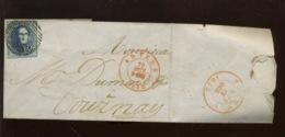 20 C Sur Lettre D'Anvers à Tournay. 19 Oct 1852 - 1858-1862 Medallions (9/12)