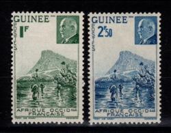 Guinee YV 176 & 177 N* Petain Cote 1,60 Eur - Unused Stamps
