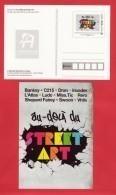 PAP Entier De L´ Exposition STREET ART à L´Adresse Musée De La Poste, Peinture Art - Prêts-à-poster: TSC Et Repiquages Semi-officiels