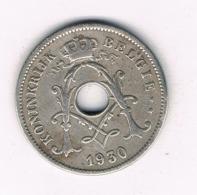 10 CENTIMES 1930  VL BELGIE/8467/ - 1909-1934: Albert I.