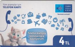 TURKEY - Mutluluk Evinizde ,Haziran 2017, Chip 5 ,4₤ Turkish Lira , Used - Türkei