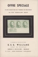 Williame OFFRE SPECIALE Livret Très Ancien De 32 Pièces EXTRAORDINAIRES De MEDAILLONS - Tout En Couleur - Belgium