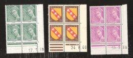 France Coins Datès N° 410 De 1939 Et 411 De 1939 Et 757 De 1946 Armoirie De Lorraine MNH Neufs Sans Charniéres - Coins Datés