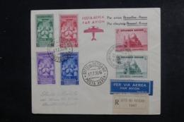 BELGIQUE / VATICAN - Enveloppe Par Avion Bruxelles / Rome Et Retour En Recommandé En 1939 - L 46345 - Cartas