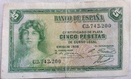 Billete 5 Pesetas. 1935. República Española - [ 2] 1931-1936 : Republiek