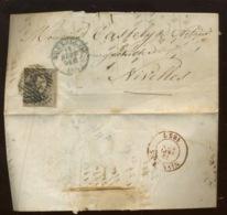10c Sur LETTRE  14 Sept 1857 - 1858-1862 Medallions (9/12)